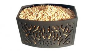 pellet basket Kaminkorb con pellets